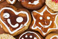 Stock Photo of tasty gingerbread cookies