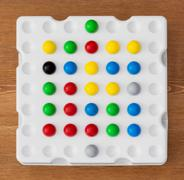 logic board game with balls - stock photo