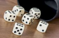 Stock Photo of casino dices on the table