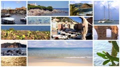 Mediterraneo collage Stock Footage