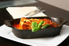 lasagna bolognese - stock photo