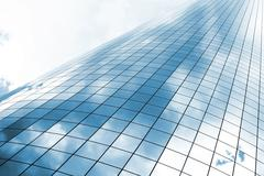 glass building - stock photo