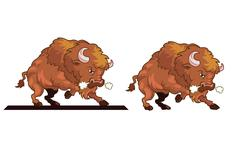Angry Bull Mascot - stock illustration