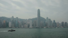 HD video of the Hong Kong island skyscrapers viewed from Kowloon Stock Footage