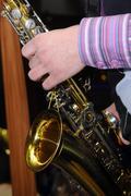 Jazz saxophone player Stock Photos