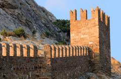 genoese sudak castle - stock photo