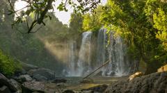 Waterfall in phnom kulen national park Stock Footage