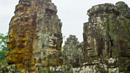 Stock Video Footage of ruins of the ancient temple complex of bayon. angkor thom, cambodia