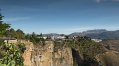 4k timelapse Ronda kaupungin espanja kaupunki vuoristossa Arkistovideo