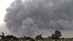 4K / HD Amazing Pyroclastic Flow Volcanic Eruption Rare Footage Stock Footage