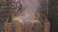 Sauna close up steam Stock Footage