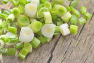 Stock Photo of chopped green onions