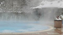 Thermal Bath steam Stock Footage