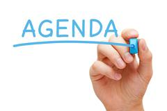 Agenda blue marker Stock Illustration