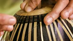 Making a cup from bamboo and horsehair. workshop in mandalay, burma Stock Footage