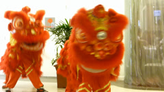 4k Ultra HD video of Lion dance performance during Chinese New Year Stock Footage