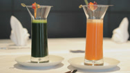 Stock Video Footage of Healthy Juices