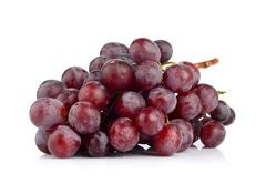 Bunch of grapes isolated on white Stock Photos