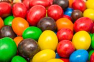 Stock Photo of Colorful Mix Of Coated Chocolate Candy