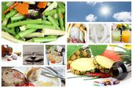 Stock Photo of concepts of food for good health.