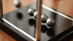 Newton's Cradle In Motion Stock Footage