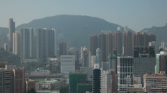 HD video of high rise apartment buildings in Hong Kong Stock Footage