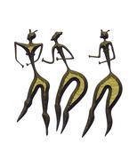 Three women - primitive art Stock Illustration
