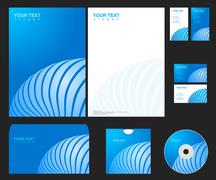 Vector blue company identity template Stock Illustration