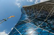 Stock Photo of capital gate tower in abu dhabi uae