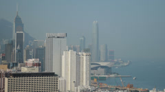 HD video of Hong Kong harbour Stock Footage