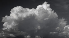 Sky clouds Time Lapse Black and White Stock Footage