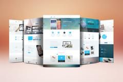 Website Display Mockup PSD Template
