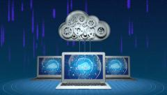 Abstract cloud computing concept - stock footage