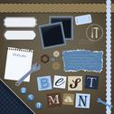 Stock Illustration of scrapbooking set: best man