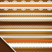 scrapbooking set: ornate ribbons - stock illustration