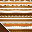 Stock Illustration of scrapbooking set: ornate ribbons