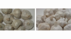Superfood Garlic above and side view Stock Footage