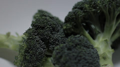 Superfood Broccoli side view Stock Footage