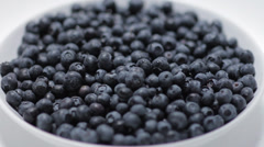 Superfood Blueberries side view Stock Footage