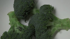 Superfood Broccoli above view Stock Footage