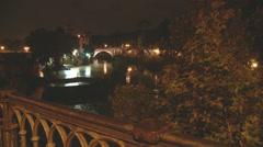 bridge over Tiber - stock footage