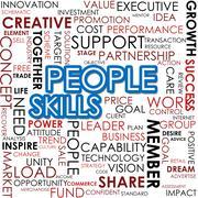 People skill word cloud Stock Illustration