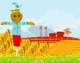 Stock Illustration of illustration of a farm in a beautiful nature
