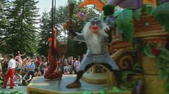Performance in Disneyland Stock Footage