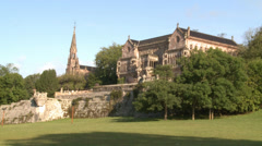 Nineteenth century palace - stock footage