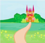 Stock Illustration of magic fairy tale princess castle