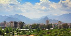 residential area in antalya city - stock photo