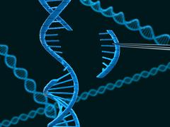 DNA modification - stock illustration