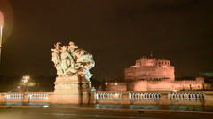 Castel Sant' Angelo Stock Footage