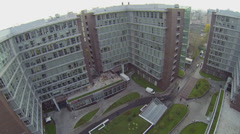 Panorama of offices and hotel complex Vivaldi-Plaza Stock Footage